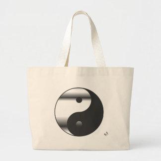 Yin Yang Chrome Large Tote Bag