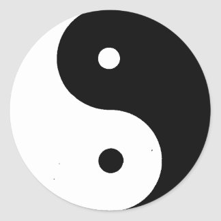 Yin__Yang Classic Round Sticker