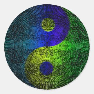 Yin-yang Classic Round Sticker