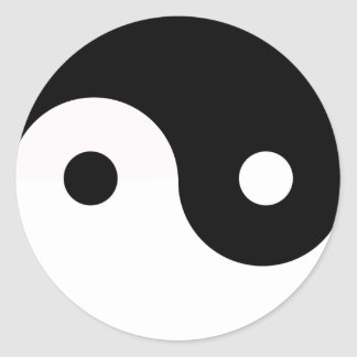 Yin Yang Classic Round Sticker