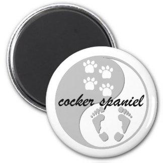 yin yang cocker spaniel magnet