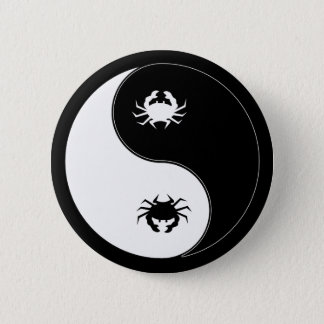 Yin Yang Crab 6 Cm Round Badge