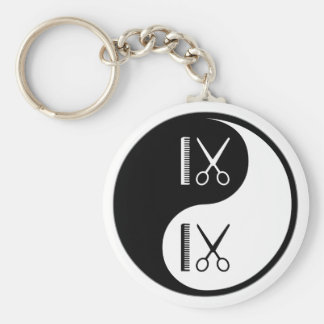 Yin Yang Cutting Hair Key Ring