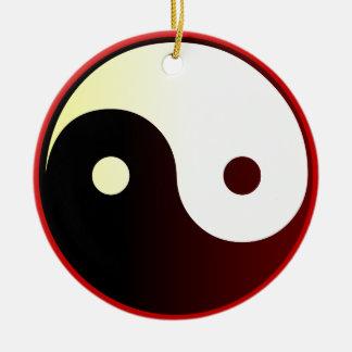 Yin & Yang Round Ceramic Decoration