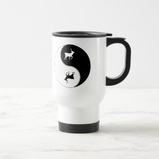 Yin Yang Deer Stainless Steel Travel Mug