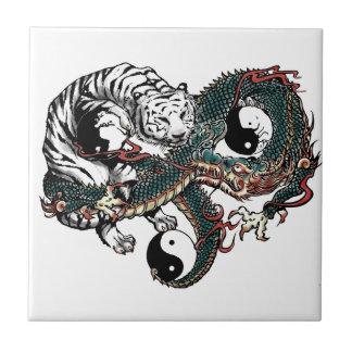 Yin Yang Design Ceramic Tile