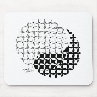 Yin Yang Design with a blended twist Mouse Pad