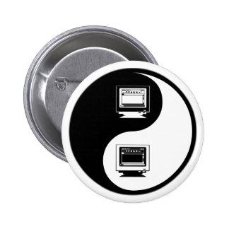 Yin Yang Desktop Publishing 6 Cm Round Badge