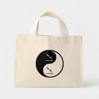 Yin Yang Diving Tote Bag