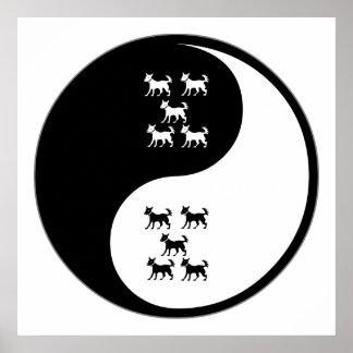Yin Yang Dog Training Print