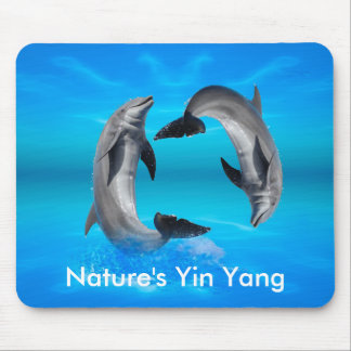 Yin Yang Dolphins Mouse Pad