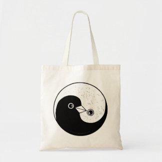 Yin Yang doves peace Tote bag