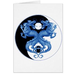 Yin Yang Dragon 2 Greeting Card