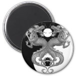 Yin Yang Dragon 6 Cm Round Magnet
