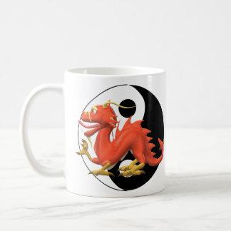 Yin Yang Dragon Coffee Mug