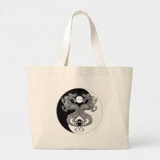Yin Yang Dragon Jumbo Tote Bag