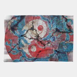 Yin Yang Dragon Life Tea Towel