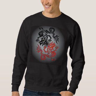 Yin/Yang dragon Moon Sweatshirt
