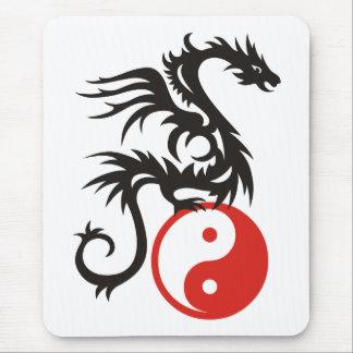 Yin & Yang Dragon Mouse Pad