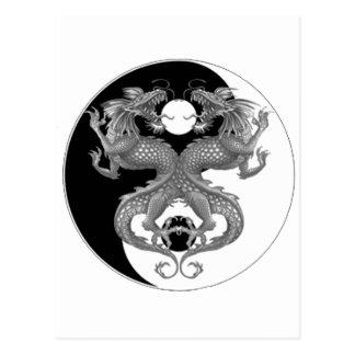 Yin Yang Dragon Postcard