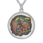 Yin Yang Dragon Sterling Silver Necklace