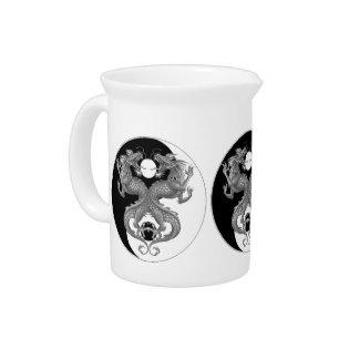 Yin Yang Dragons Beverage Pitchers