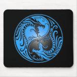 Yin Yang Dragons, blue and black