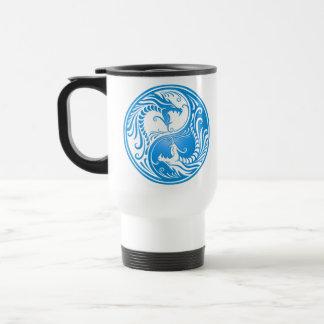 Yin Yang Dragons blue Coffee Mugs