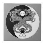 Yin Yang Dragons Ceramic Tiles