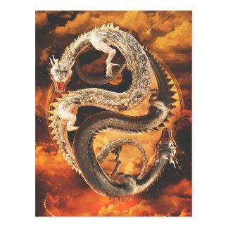 Yin Yang Dragons - Chaos Postcard
