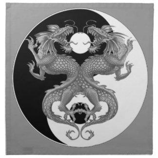Yin Yang Dragons Cloth Napkin