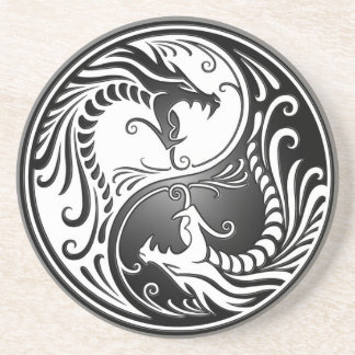 Yin Yang Dragons Coaster