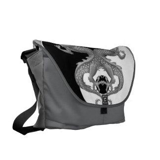 Yin Yang Dragons Courier Bag