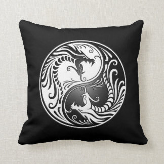 Yin Yang Dragons Cushion