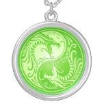 Yin Yang Dragons, light green Jewelry