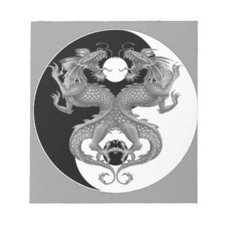 Yin Yang Dragons Note Pads