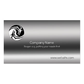 Yin-Yang Dragons on metallic-effect Pack Of Standard Business Cards