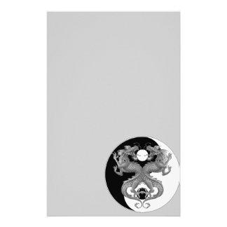 Yin Yang Dragons Personalized Stationery