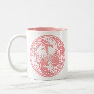 Yin Yang Dragons pink Mugs