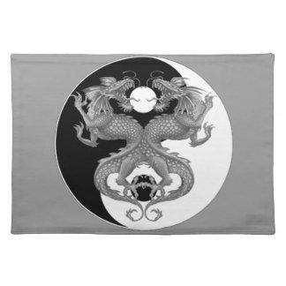 Yin Yang Dragons Place Mat