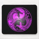 Yin Yang Dragons, purple and black