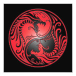 Yin Yang Dragons, red and black Custom Announcements