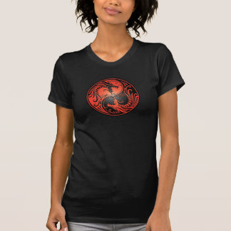 Yin Yang Dragons, red and black T-Shirt