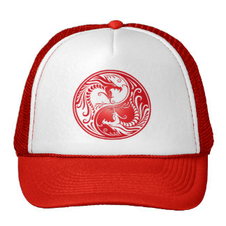 Yin Yang Dragons, red Cap
