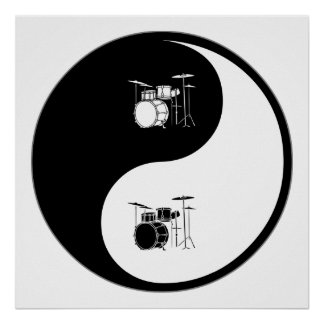 Yin Yang Drums Poster