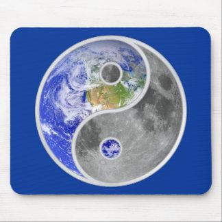 YIN-YANG EARTH MOON MOUSE PAD