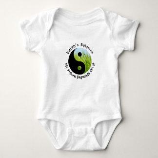 Yin Yang - Earth's Balance My Future Depends On It Baby Bodysuit
