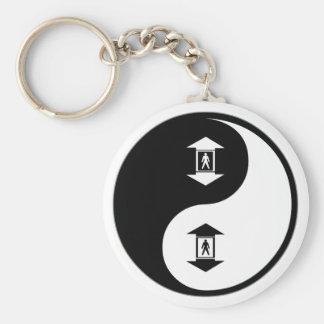 Yin Yang Elevators Basic Round Button Key Ring