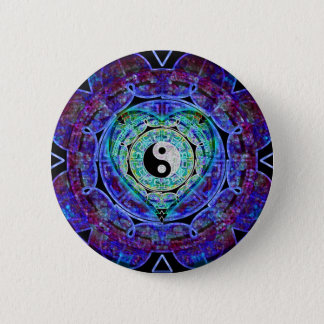 Yin Yang Energy Flow 6 Cm Round Badge