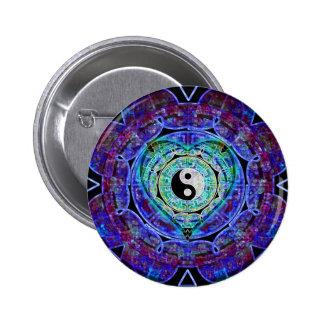 Yin Yang Energy Flow 6 Cm Round Badge